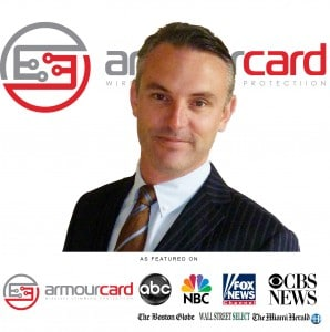 Electronic Pickpockets featured story on ABC news, NBC News, Fox News, CBS News with Armourcard CEO Tyler Harris explaining how to protect yourself