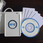 Standard off the shelf NFC / RFID reader that can be easily purchased online for under $100